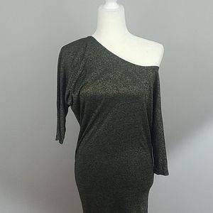 French Connection - Cold Shoulder Metallic Dress